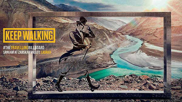 Johnnie Walker: The Worlds Most Travelled Billboard