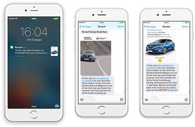 Renault: An SMS that delivers video for a fraction of the cost of an