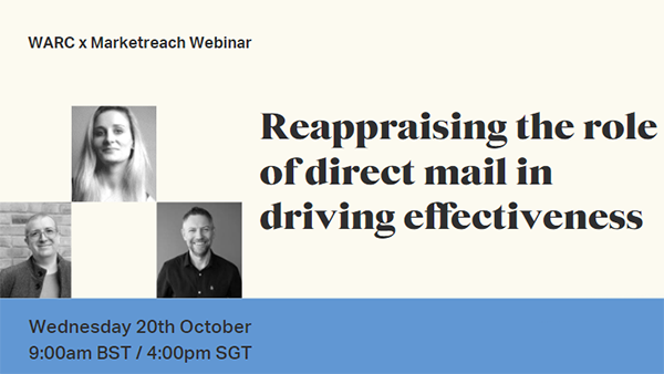 Reappraising the role of direct mail